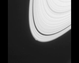 Saturn's A Ring Edge