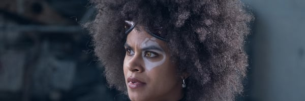Deadpool 2 Zazie Beetz Domino giving a questioning look
