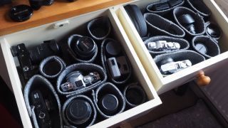 Drawer storage photography hack