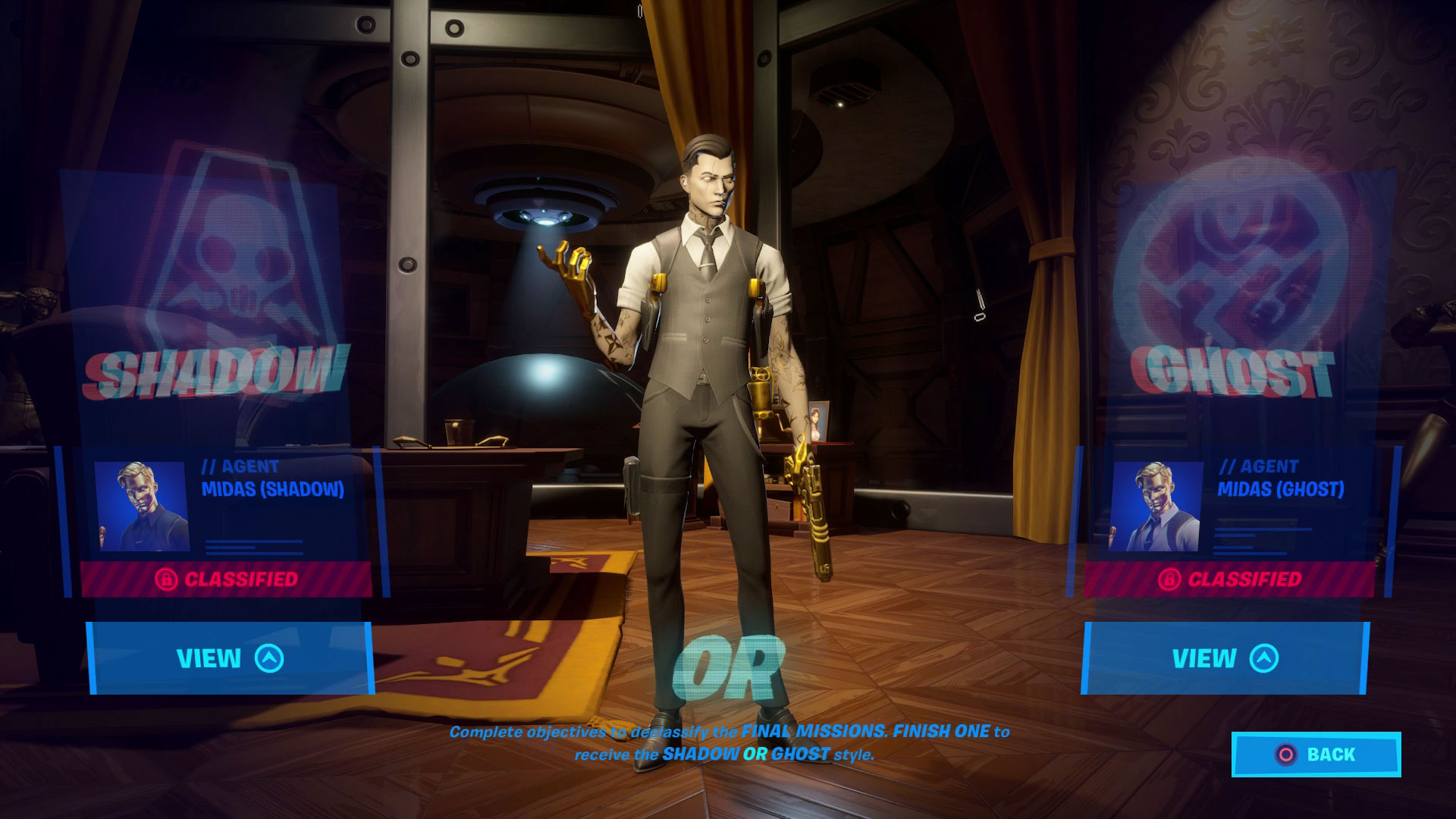 Fortnite Midas Mission Challenges How To Finish His Tasks And Unlock The Shadow Or Ghost Midas Style Gamesradar