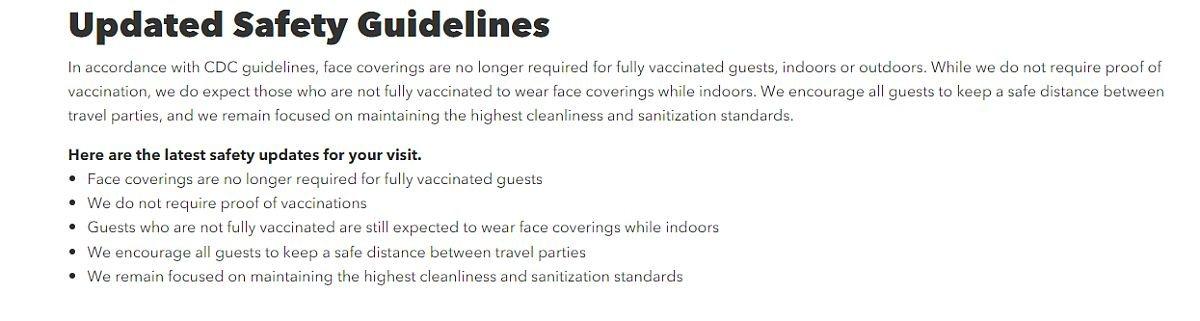 Universal Orlando resort Guidelines