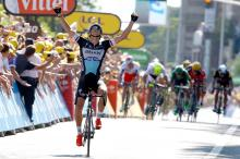 Zdenek Stybar wins stage 6 of the Tour de France.
