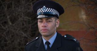 Ben Bailey Smith plays PC Johnny Daniels in Brief Encounters