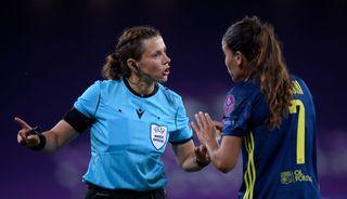Kateryna Monzul, Andorra vs England referee