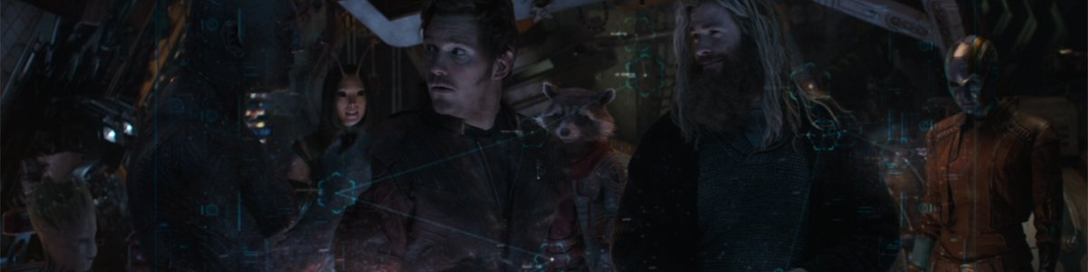 Guardians of the Galaxy with Thor in Avengers Endgame