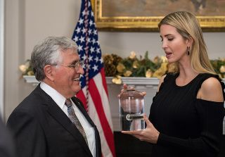 Jack Schmitt and Ivanka Trump with Moon Rock