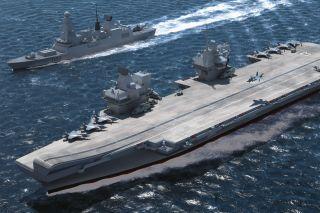 Illustration of Queen Elizabeth-Class Aircraft Carrier