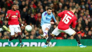 man city vs man united live stream carabao cup semi-final football bernardo silva