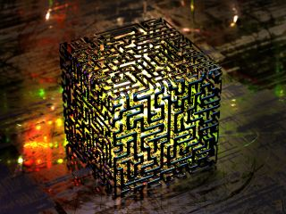 an abstract image of a quantum computer