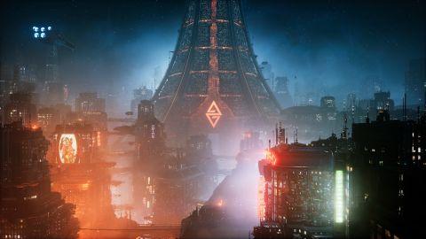 A giant futuristic city