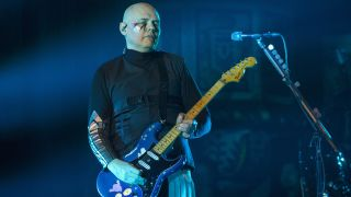 Singer Billy Corgan of Smashing Pumpkins during the 101 WKQX The Nights We Stole Christmas show at the Aragon Ballroom on November 30, 2018 in Chicago, Illinois.
