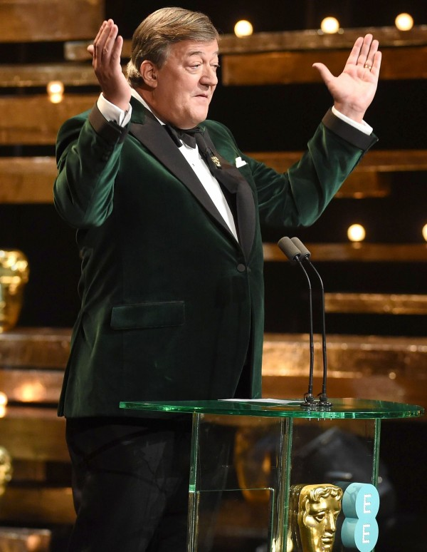 Stephen Fry on stage (Jonathan Hordle/REX Shutterstock)