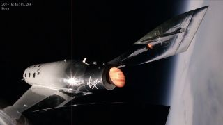 Virgin Galactic test flight