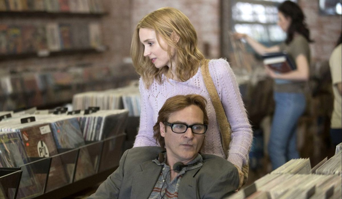 Joaquin Phoenix and Rooney Mara in Don't Worry He Won't Get Far on Foot Amazon Studios