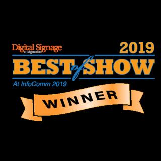 Digital Signage Magazine InfoComm 2019 Best of Show Award Logo
