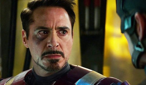 Captain America: Civil War Tony crying in front of Cap