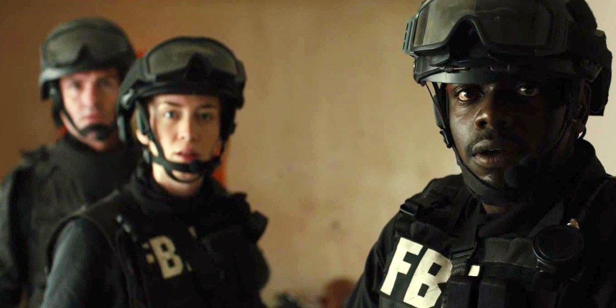 Emily Blunt and Daniel Kaluuya in Sicario