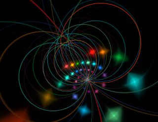 Artist's impression of string theory.