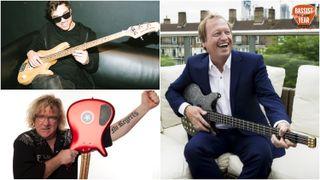 Bassist of the Year 2019 judges Joe Dart, Stu Hamm and Mark King