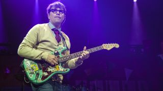 Singer/guitarist Rivers Cuomo of Weezer performs at PNC Music Pavilion on July 25, 2018 in Charlotte, North Carolina.