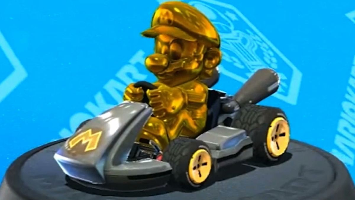 mario kart 7 how to get gold parts