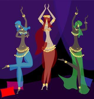 Illustration of female dancers.