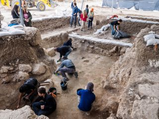 The ruins of a richly decorated church were unearthed during salvage excavations in the city of Beit Shemesh, west of Jerusalem, in Israel.