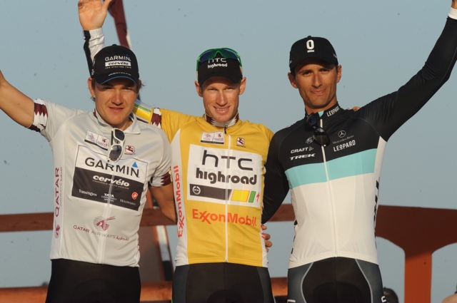 Mark Renshaw wins 2011 Tour of Qatar overall, Haussler second, Bennati third