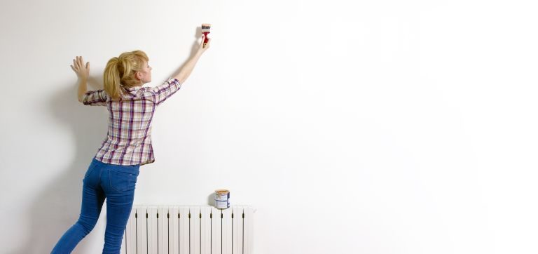 A blank canvas for wall paint ideas