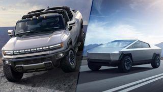Tesla Cybertruck vs. GMC Hummer EV