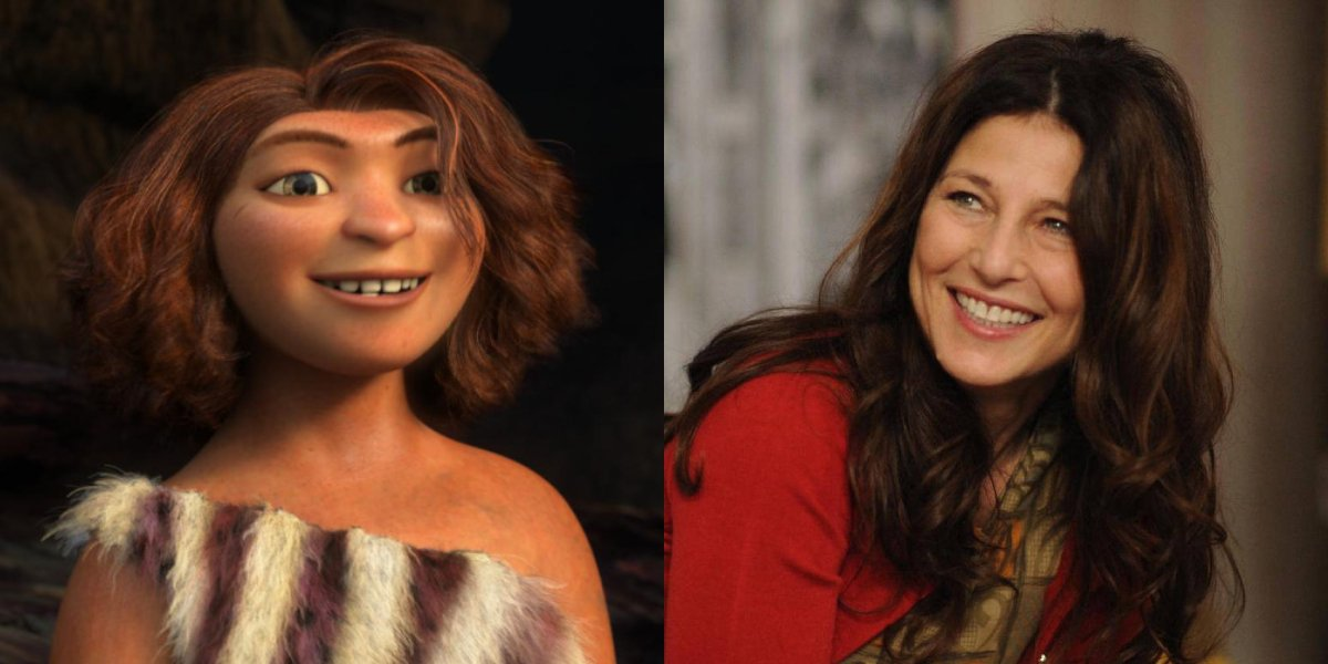 Ugga Crood and Catherine Keener