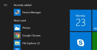 How to pin Device Manager to the Start Menu
