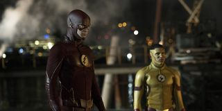 The Flash Flash and Kid Flash standing together