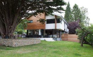 Contemporary timber frame extension to a bungalow