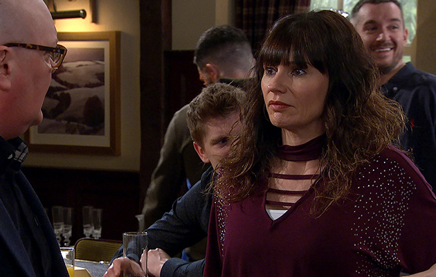 Emmerdale spoilers! It's party time as stressed-out Paddy Kirk and Chas Dingle try to celebrate their engagement