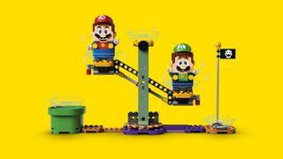 Lego Super Mario Luigi yellow_background_added