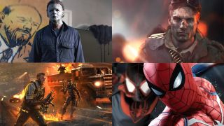 Images of Halloween, Call of Duty Black Ops 4 Blackout, Battlefield V and Spider Man on PS4