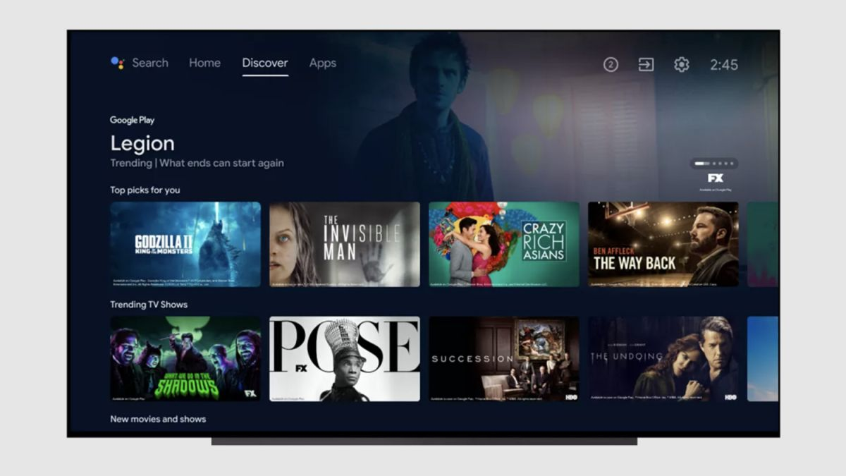 This update for Android TV has a distinct Google TV flavor