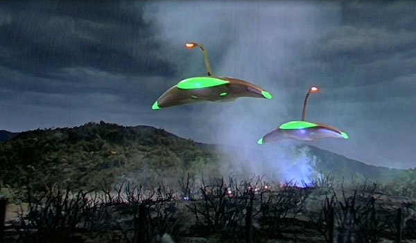 The alien invasion in War Of The Worlds