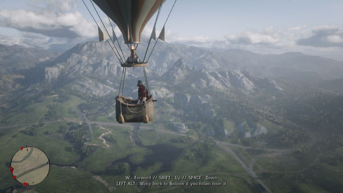 Red Dead Redemption 2 hot air balloon mod: It's like a helicopter but gassier