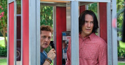 Alex Winter and Keanu Reeves play Bill and Ted in 'Bill & Ted Face the Music'.