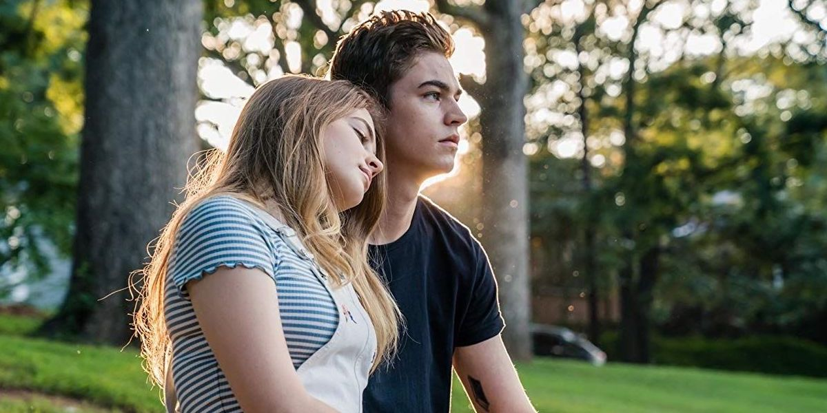 Josephine Langford and Hero Fiennes Tiffin in After movie