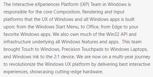 Program leader job post by Microsoft