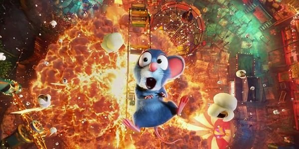 The Nut Job 2: Nutty By Nature fairground explosion with popcorn