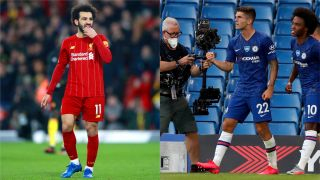 Liverpool's Mohamed Salah and Chelsea's Christian Pulisic