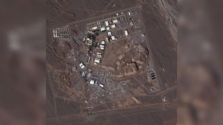 The uranium enrichment facility in Natanz, Iran, as seen from above on Jan. 7, 2013.