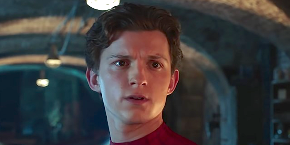tom holland in spider man far from home