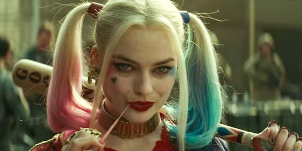 Harley Quinn holding her baseball bat  in Suicide Squad