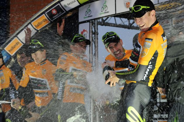Endura celebrate win, Tour Series 2012, Stoke-on-Trent