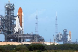 Rare Sight: Twin Shuttles at Launch Pad for Last Time
